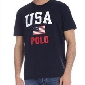 Polo by Ralph Lauren USA Black Tee•NWT